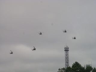 ヘリコプター登場