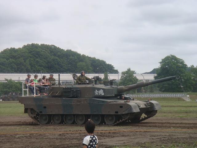 戦車試乗の様子