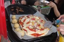 海辺でのピザは初!