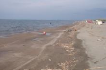 海岸線浸食済