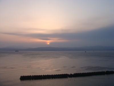 綺麗な夕日を見る事ができました