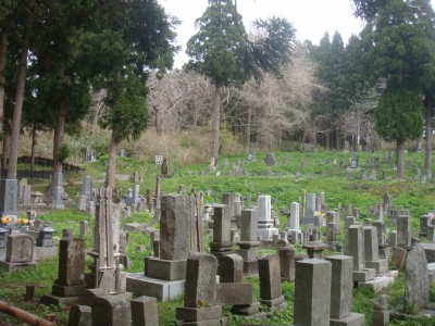近くの墓はこんな感じ